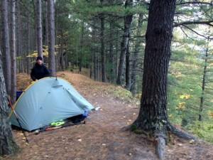 scenic tent site