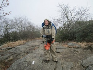 On Springer Mtn in 2011 in all my clothes, plus Dry Ducks, plus an emergency blanket. How cold? That cold.