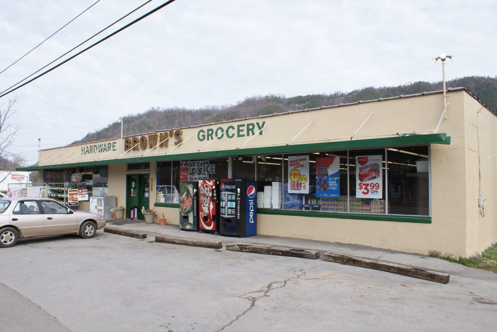 Hikers who have made their way to Hampton, Tenn., can resupply at Brown's Grocery owned and operated by Sutton Brown, who also runs the hostel nearby. (Photo by Kayla Carter)