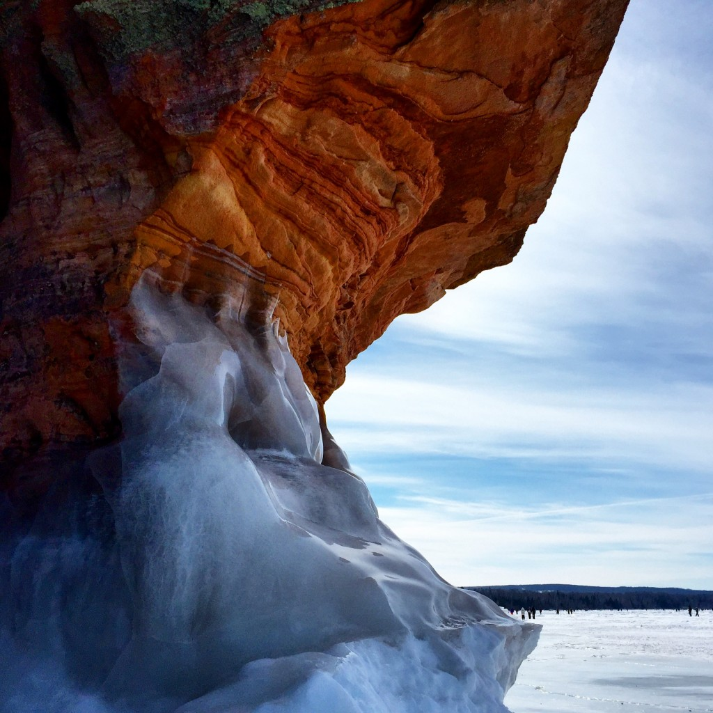 Mother Nature is kind of a show-off. Ice Caves, Lake Superior, WI