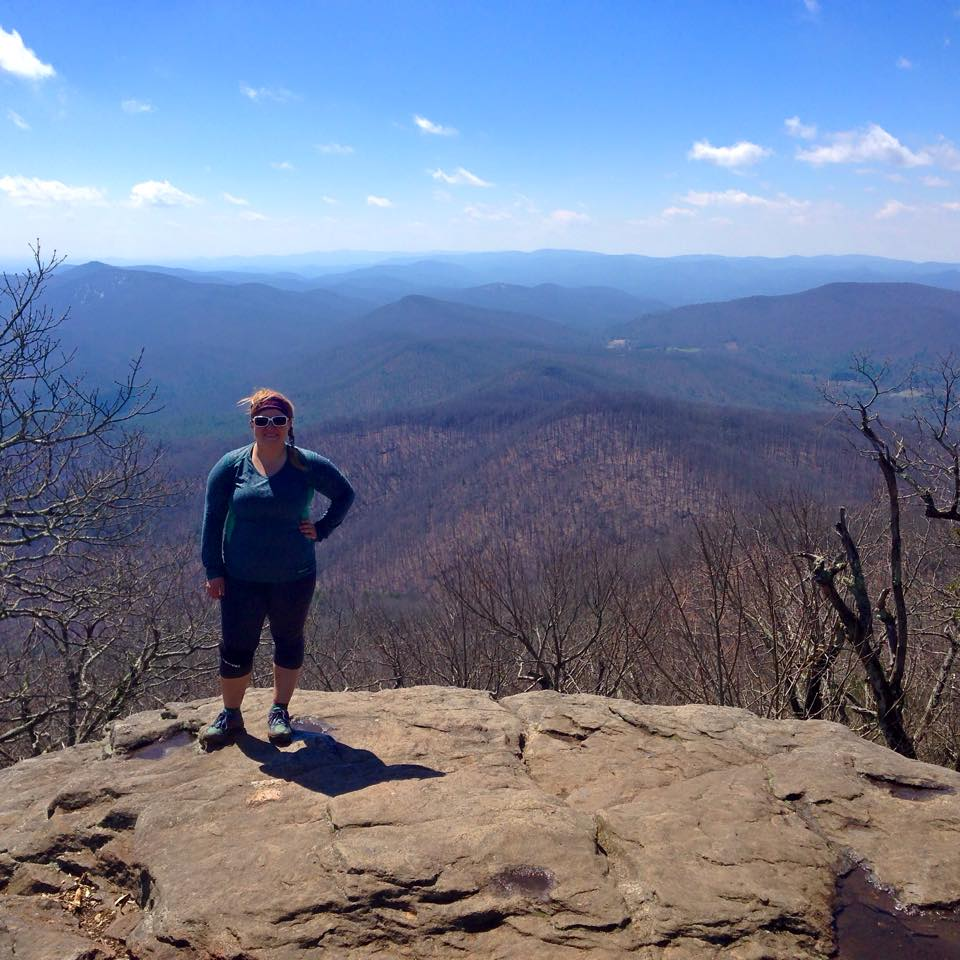 Standing on top of Blood Mountain literally felt like being on top of the world. THIS my friends is why I climb.