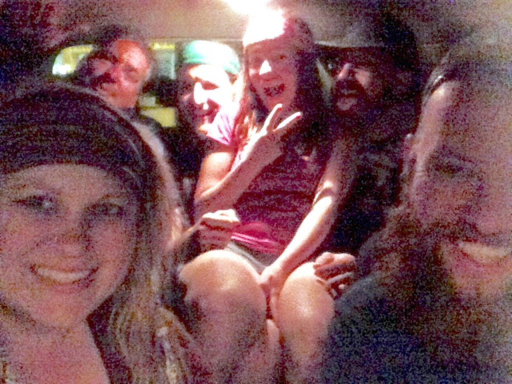 Poor quality photo, but it perfectly captured the evening! Jacob and I (right and left front, respectively) spent the evening hanging out with these cool folks at Mulligans in Franklin, then gave them a ride back to the hotel. I can't remember all their trail names, but we had a blast nonetheless!