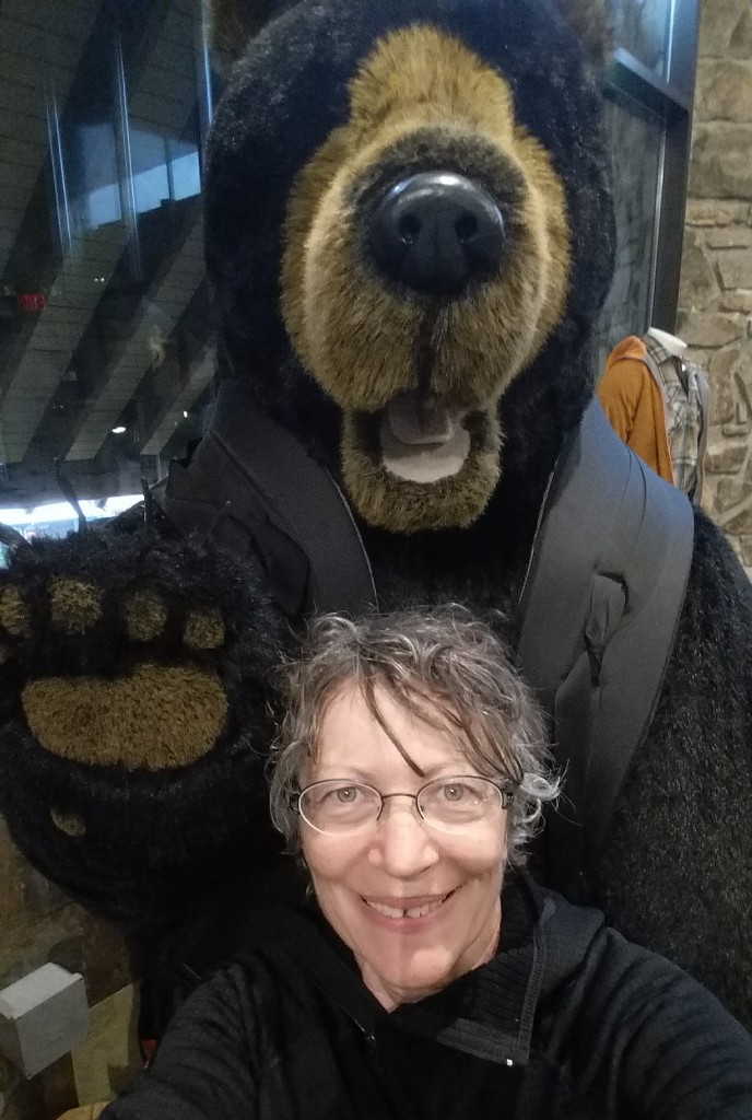 Me and the only bear I saw.