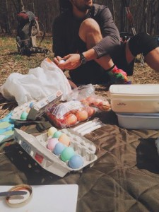 Trail magic is still continually abounding. This was our lovely Easter Sunday trail magic spread.