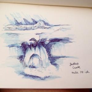 Sketch at Justus Creek