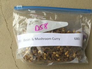 A dehydrated meal - double bagged