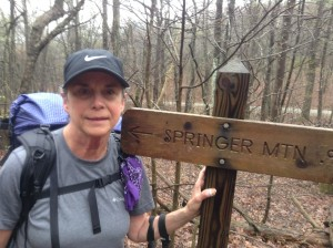 Jeanne/Spider at Springer Mountain