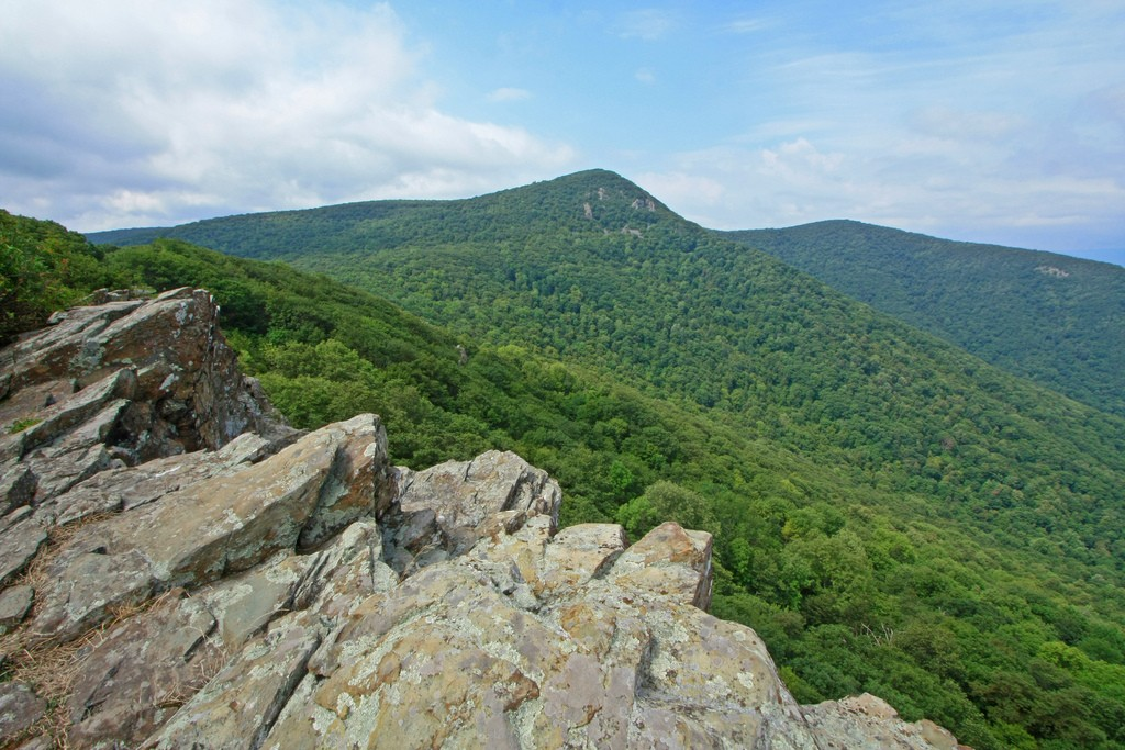 View of Hawksbill Mountain from Crescent Rock Overlook. Photo courtesy of Alan Cressler.