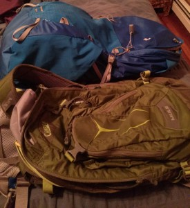 Every hiking trip starts with me packing and unpacking every bag I own.