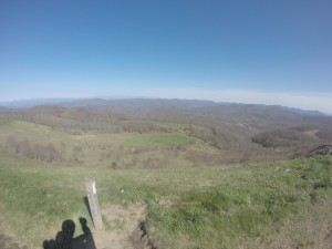Max Patch. A 360 degree view from the top, last big climb before Hot Springs.