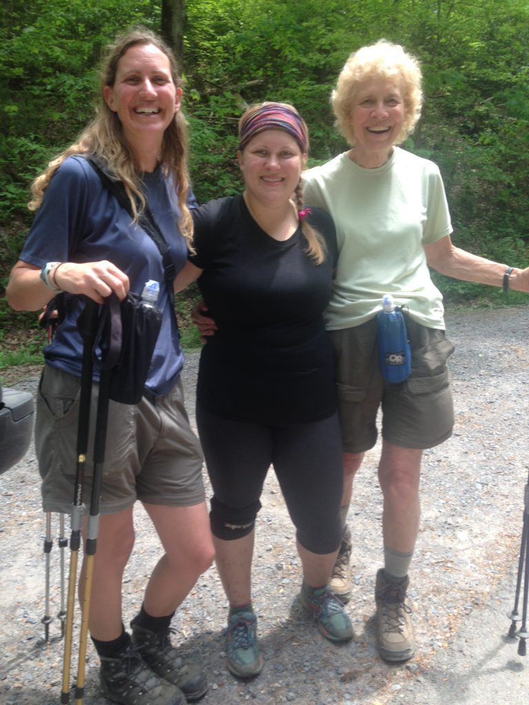 I FINALLY met Blue Bird and Hakuna Matata. My mom, aunt, and uncle picked them up hitch-hiking in Gatlinburg and took them back to the trail, then ended up hiking with them for a ways before saying their goodbyes. We'd been looking for each other ever since, and finally met at Davenport Gap.