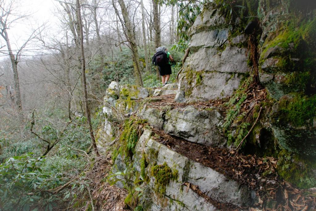 Spirit heading into the rocks.