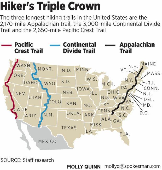 Triple Crown map