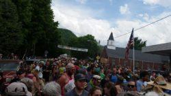hiker parade at trail days