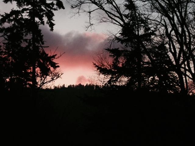 Sunset from Pecks Corner Shelter