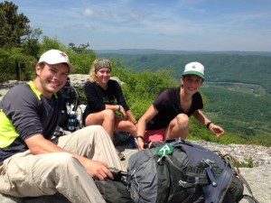 Lunch on McAfee Knob