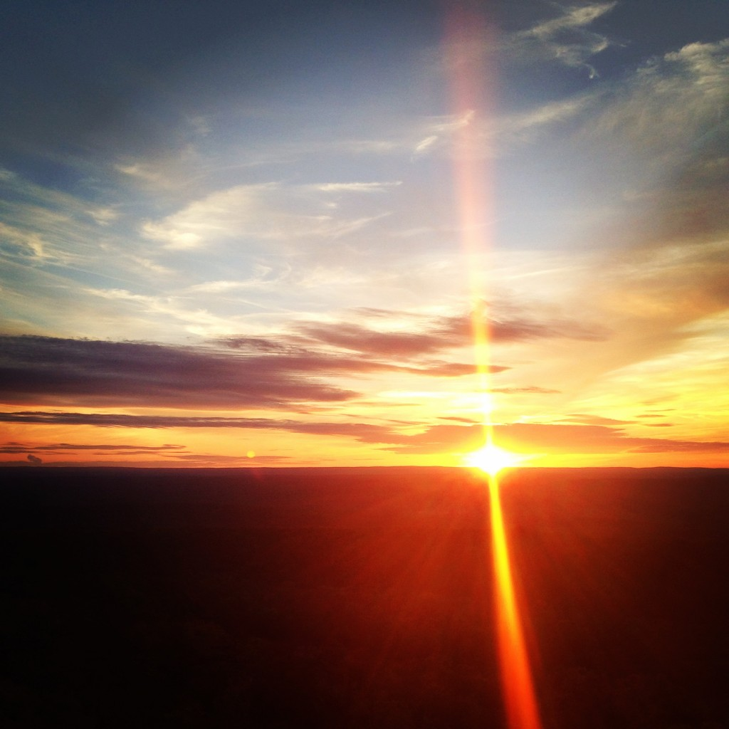 Sunset on top of Catfish Fire Tower. *not pictured is a beautiful sunrise from the same spot