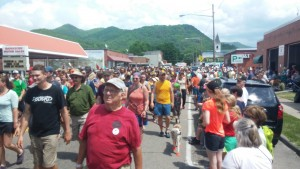 Hiker parade at Trail Days in Damascus Virginia!