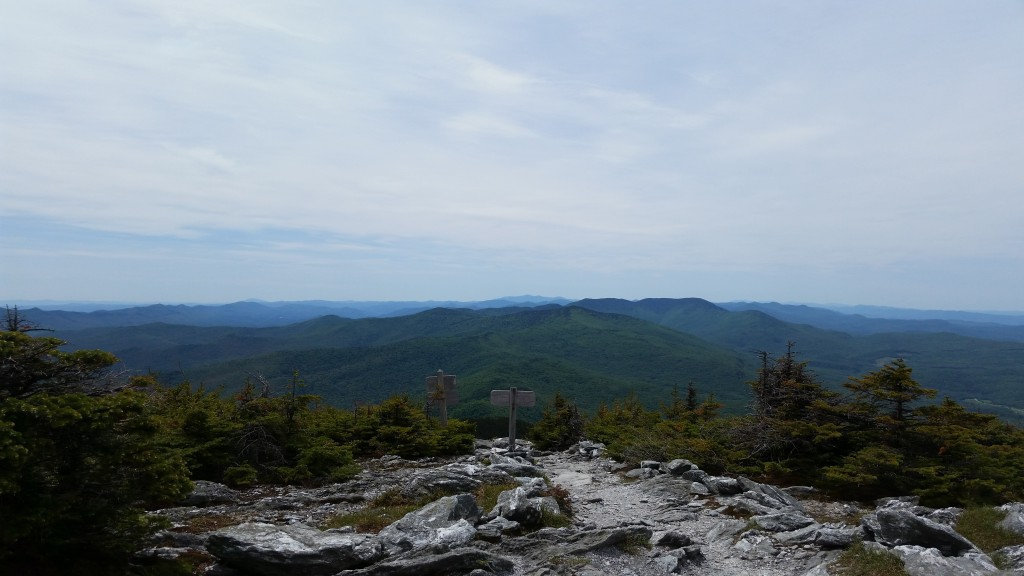 The view from Mt Abraham