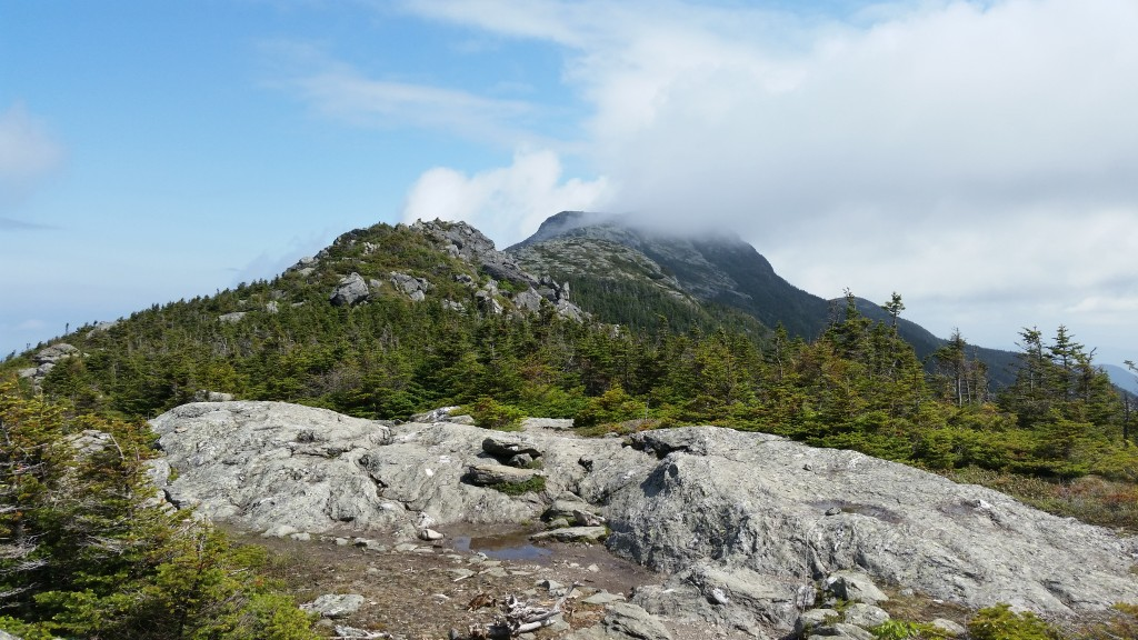 Mt Mansfield's highest peak - The Chin - still holding on to some of the morning's clouds.