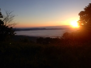 Sunrise from Chestnut Knob Shelter