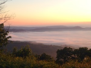 The fog down in the valley, from Chestnut Knob Shelter