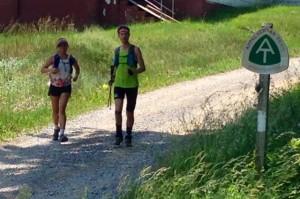 Scott Jurek (right) running past!