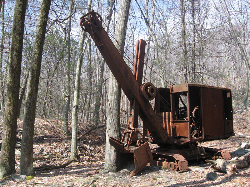 "A derelict piece of coal-mining equipment dubbed ""The General"". Photo courtesy of Joe Coyle. CC BY-NC 2.0."