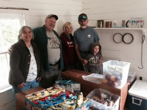 Trail angels: (L to R) Carol and Rick Lindamood, Wanda and Ralph Brewer, with grandson Cash Brewer.