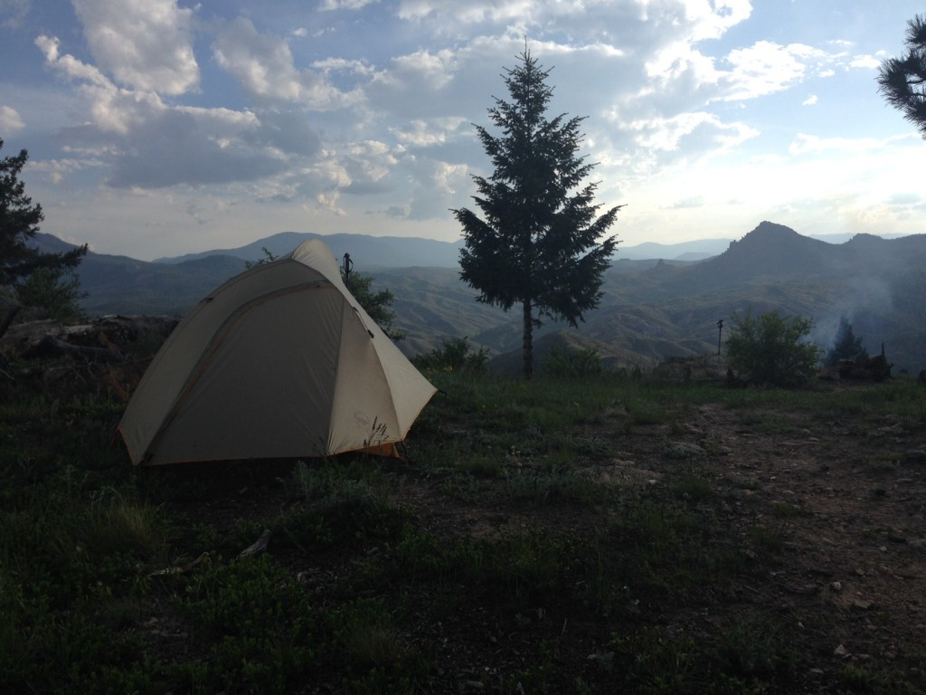 campsite colorado trail
