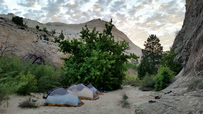 Tent site not far from Death Hollow along the Escalante River.