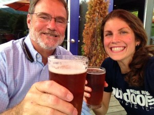 Drinking Long Trail Ales with my Dad in Vermont!