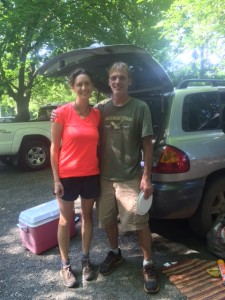 One of many wonderful trail angels- I was so thrilled I hugged him (which considering the hiker funk I must have had makes him even more generous!)
