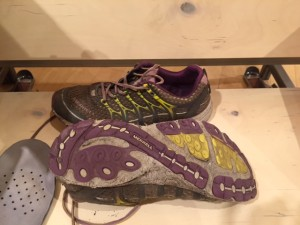 Starting to wear through the first pair of shoes- and don't even try to imagine the smell!