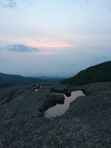 Spy Rock at sunset