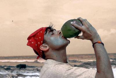drink from coconut