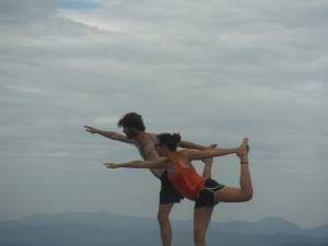Yoga on McAfee Knob