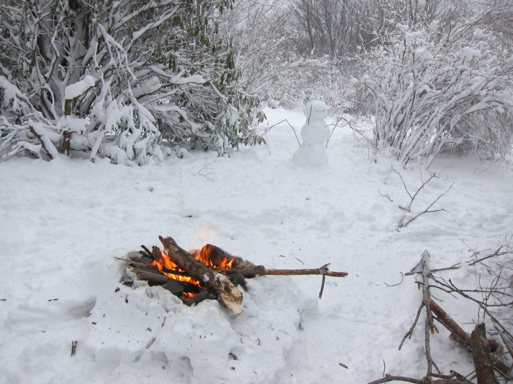 The NOBO's laughed at us for building campfires in Maine, but we never stopped!