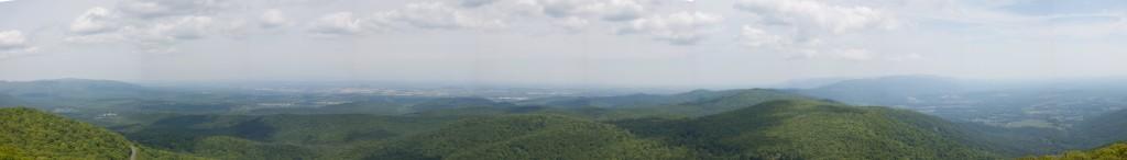 Panorama from Humpback Rocks.