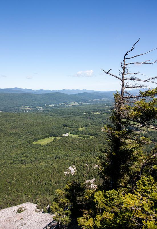 Northwestern view from White Rocks Cliffs.