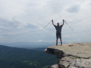 My Appalachian Trials pose atop McAfee Knob