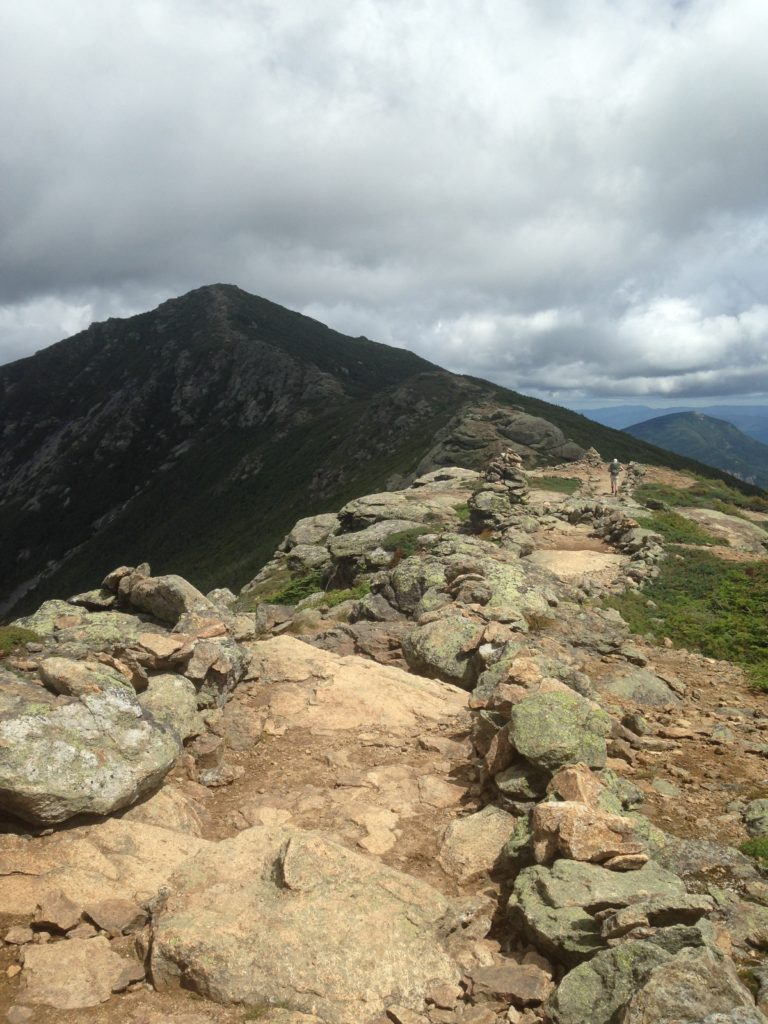 Hiking along Franconia Ridge, which traverses many peaks, including Little Haystack, Lincoln, Lafayette and more.