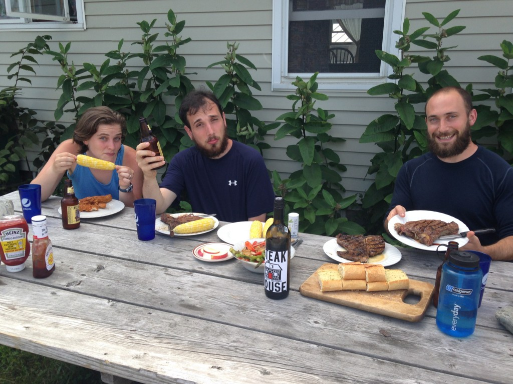 """The Last Supper"" with Sassafras and Ascot in Stratton. We miss you guys!"