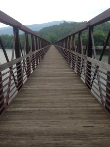 "James River Footbridge, the longest ""foot travel only"" bridge on the AT"