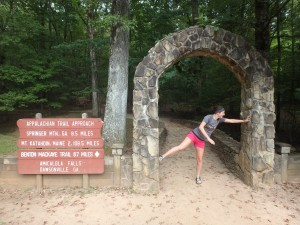 And most recently to Amicalola State Park to see the falls and take weird pictures with the approach trail sign.