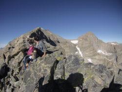 break from hiking hike mount meeker colorado usa rocky mountain national park
