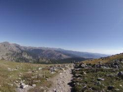 hiking on flattop mountain trail in colorado