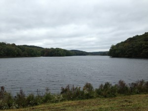 A lovely lake next to which we set up Aid Station 2 (10 miles into a 30 mile hike).