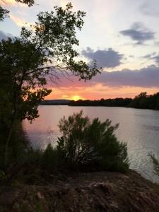 Ink Lake Sun Set
