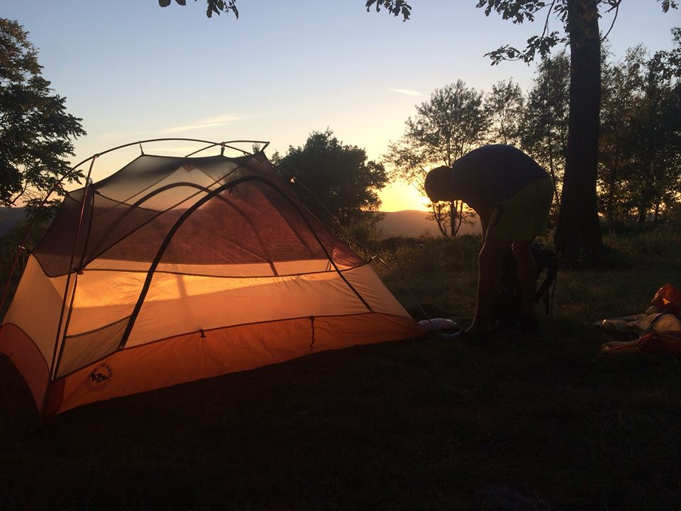 "There's nothing like basking in a glorious sunset, knowing you're safe from the elements. Photo Credit: Laura Scott, ""Bug Out"""